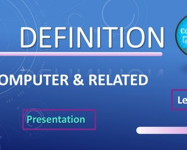Computer Definition in English