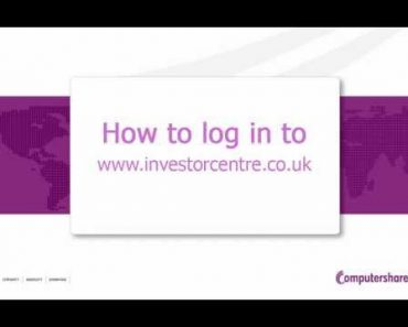 Investor Centre (UK) - How to login after activating your account