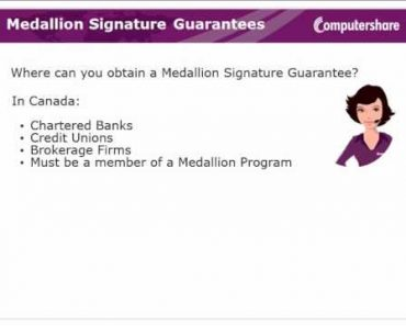 Medallion Signature Guarantees
